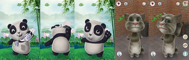 """应用流行的时候碧生源推出同类型的""""会说话的减肥熊猫""""游戏,借助时下"""